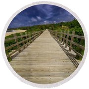 Boardwalk In Color Round Beach Towel