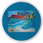 Boar's Head Round Beach Towel