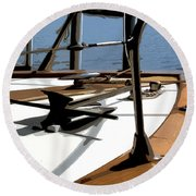 Boat Anchor Round Beach Towel