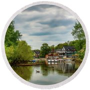 Boat House Row Two Round Beach Towel