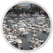 Boat Party Round Beach Towel