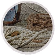Boat Ropes Round Beach Towel