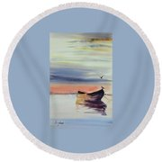 Boat Round Beach Towel