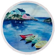 Boaters Paradise Round Beach Towel