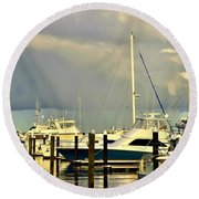 Boatworks 1 Round Beach Towel