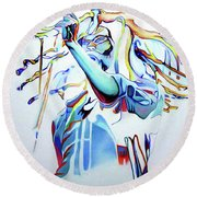 Bob Marley Colorful Round Beach Towel