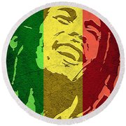 Bob Marley I Round Beach Towel