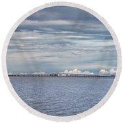 Bob Sikes Bridge Round Beach Towel