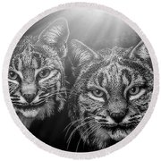 Bobcats Round Beach Towel