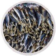 Bodboron Filipino Dried Fish Round Beach Towel