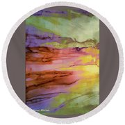 Bodhi -- Enlightenment, Awakening Round Beach Towel