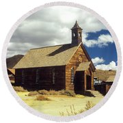 Bodie Church II Round Beach Towel