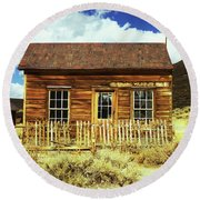 Bodie Cottage Round Beach Towel