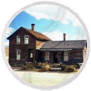 Bodie Houses Round Beach Towel