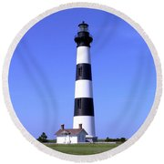 Bodie Island Light Round Beach Towel