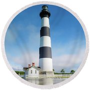 Bodie Lighthouse Round Beach Towel