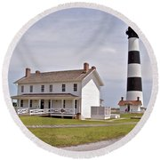 Bodie Lighthouse Nags Head Nc Round Beach Towel