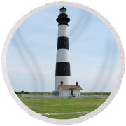Bodie Lighthouse Nags Head Nc II Round Beach Towel