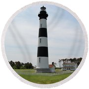 Bodie Lighthouse Nags Head Nc V Round Beach Towel