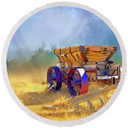 Bodie Ore Wagon Painted Round Beach Towel