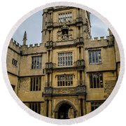 Bodleian Library Main Gate Round Beach Towel