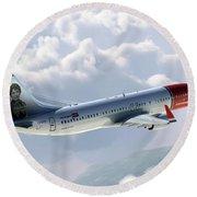 Boeing 737 Norwegian Air Round Beach Towel