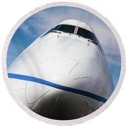 Boeing 747 Jumbo 1 Round Beach Towel