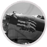 Boeing B-17g Flying Fortress Nose Art Round Beach Towel
