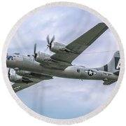 Boeing B-29 Superfortress Fifi In Flight Round Beach Towel