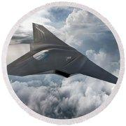 Boeing Next Gen Fighter Concept Round Beach Towel