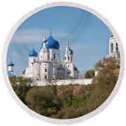Bogolyubov Monastery Round Beach Towel