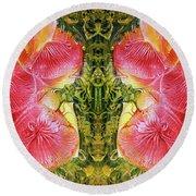 Bogomil Anniversary Flower - Digital Round Beach Towel