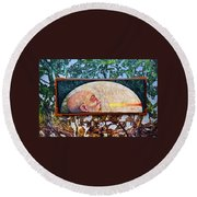 Bogomil Rising Round Beach Towel