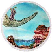 Bogomils Journey Round Beach Towel