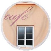 Bohemian Cafe- By Linda Woods Round Beach Towel