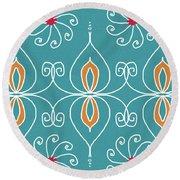 Boho Ornamental 3- Art By Linda Woods Round Beach Towel