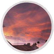 Bohol Sunset  Round Beach Towel