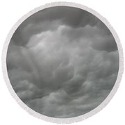 Boiling Clouds Round Beach Towel