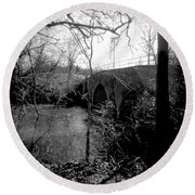 Boiling Springs Bridge Round Beach Towel
