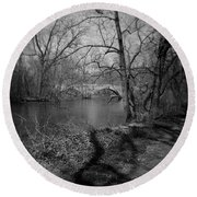 Boiling Springs Stone Bridge Round Beach Towel