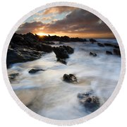 Boiling Tides Round Beach Towel