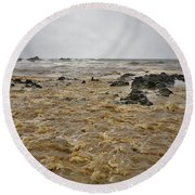 Boiling Waters Round Beach Towel