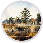 Bois De Fleche Plantation Louisiana 1861 Round Beach Towel