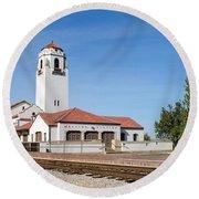 Boise Depot-elevation 2753 Round Beach Towel