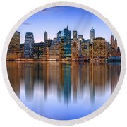 Bold And Beautiful Round Beach Towel
