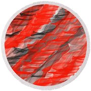 Bold And Dramatic Round Beach Towel