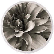 Bold Bloom Round Beach Towel
