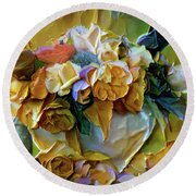 Bold Bouquet Round Beach Towel