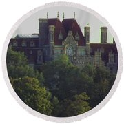 Boldt Castle 22 Round Beach Towel