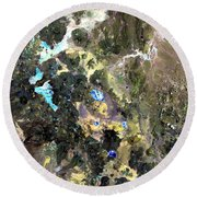 Bolivian Andes From Space Round Beach Towel